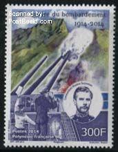 Bombardement Papeete postzegel Frans Polynesië