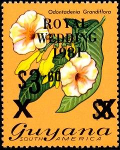 Guyana Mi 616 zwart