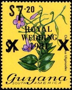 Guyana Mi 617 zwart
