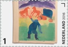 Jaar van het Boek postzegel 1