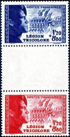 Frankrijk Mi 576 en Mi 577 strip b