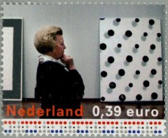 NVPH 2242 - Koningin Beatrix in het Stedelijk Museum