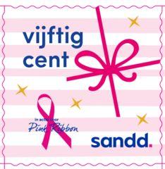 Sandd-kerstzegel - Pink Ribbon