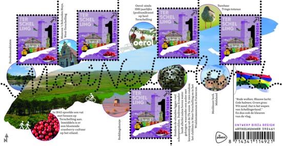Mooi Nederland 2019 - Waddeneilanden: Terschelling - uitgiftedatum 25 maart 2019