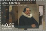 NVPH 2286 - Carel Fabritius - Zelfportret ca 1645