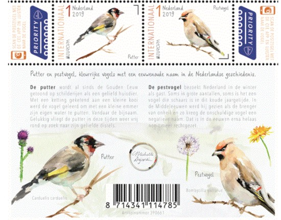 PostEurop: vogels in Nederland