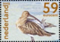 NVPH 2171b - Het Nederlandse Wad - wulp