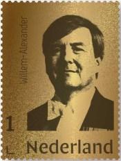 Gouden postzegel Koning
