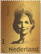 Gouden postzegel Koningin Maxima