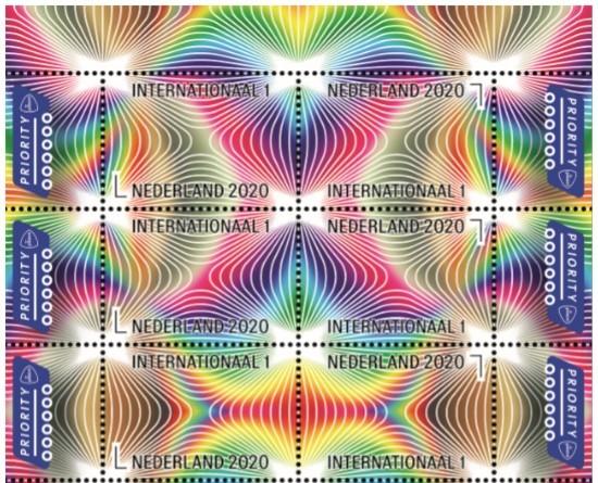 Postzegelvel Caleidoscoop [gedeeltelijk]