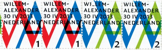 NVPH 3057/3058 - Inhuldigingszegels koning Willem-Alexander