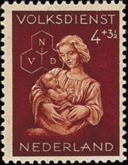 NVPH 424 - Winterhulp-Volksdienstzegel