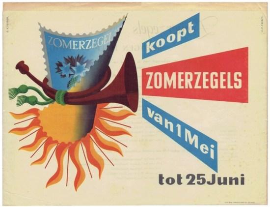 Affiche Zomerzegels 1952