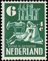 NVPH 558 - Kerken in oorlogstijd