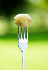 Potatis på gaffel