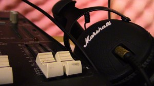 Headphone and keys Audio Dice Network