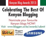 SUBMISSIONS FOR THE KENYA BLOGS AWARDS 2013