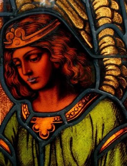 woman - stained glass