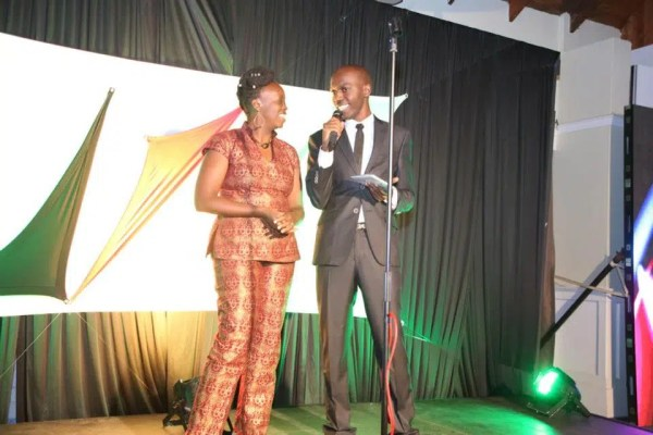 Larry Madowo the MC for 2013 with Njeri @Kenyanpoet
