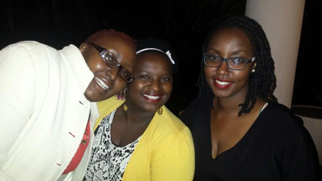 @mercymurugi, @mumbi_ and I at the party