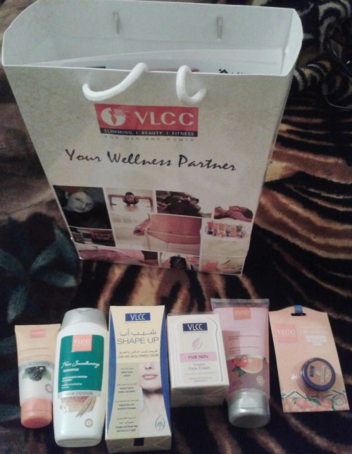 Guests at the launch were given goodies from the VLCC skin and beauty range which is yet to be launched in Kenya.