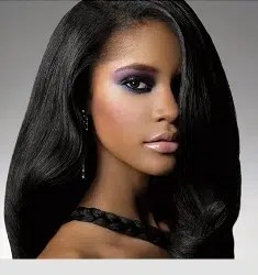 black beautiful hair