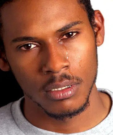 Crying Black Man. Picture from http://www.thisisyourconscience.com/2012/06/if-you-believe-love-doesnt-exist-marriage-doesnt-work-youre-only-speaking-for-yourself/black-man-crying/
