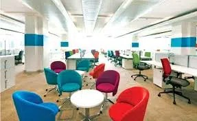 Using chairs to give the room colour. Photo credit.  www.deskcentre.co.uk