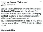 An evening of AfroJazz featuring Eric Wainaina and Ricky na Marafiki Band