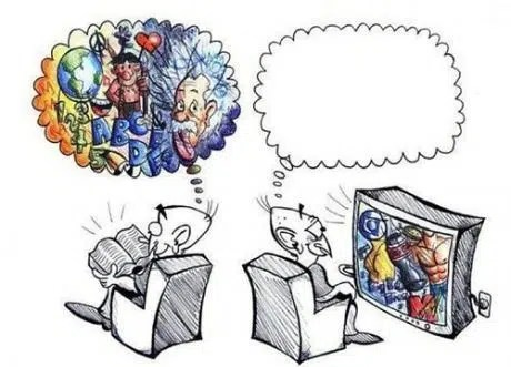Books help you use your imagination. Image from http://www.gagbay.com/gag/books_vs_movies-383994/