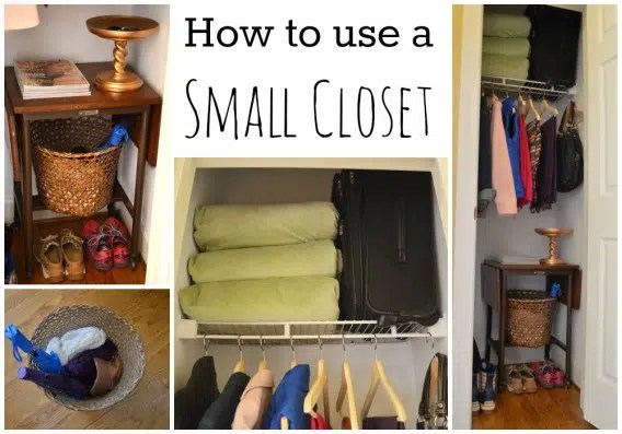 Using your closet effectively. Image from http://www.forrent.com/blog/apt_life/how-to-use-a-small-closet/