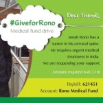 Johna Rono – Fighting cancer, one day at a time #GiveForRono