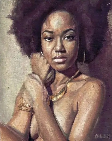 A painting of a young lady. Image from http://weheartit.com/entry/group/57175636