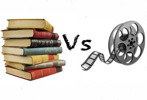Books vs Movies. Image from http://movie-memories.net/why-you-shouldnt-compare-books-to-movies/