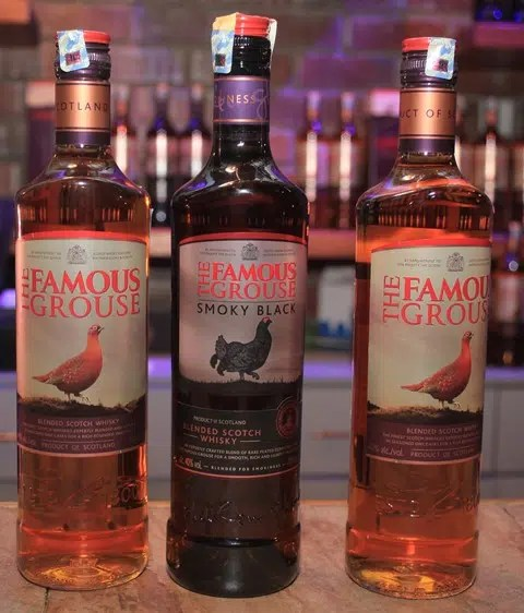 New look Famous Grouse and Smoky Grouse which was formerly known as Black Grouse. Image courtesy of Famous Grouse.