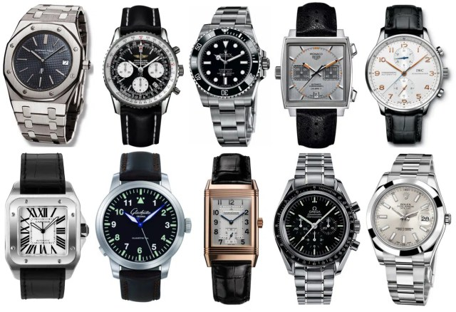 Different types of watches. Image from http://www.ablogtowatch.com/watch-brands/