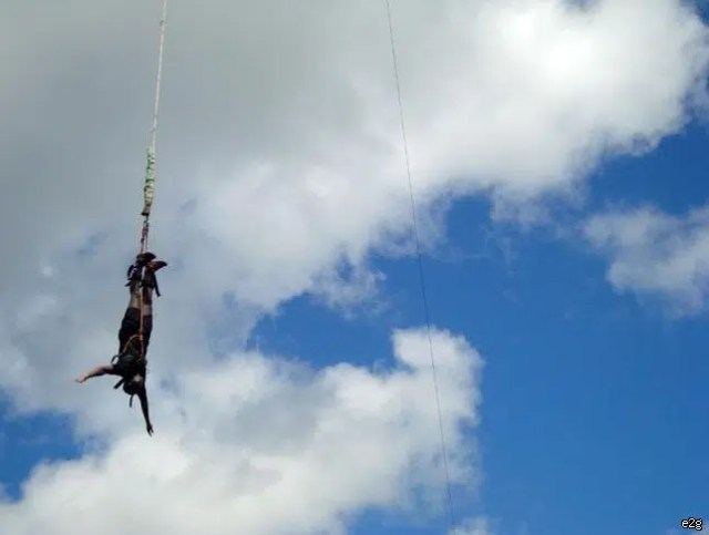 Bungee jumping. Image from http://www.raftinginkenya.com/photo-gallery.html?sid=1&gid=28