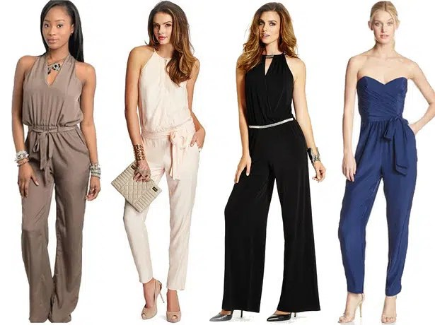 c1bbcef02b6 Women looking fabulous in different types of jumpsuits. Image from  http   stylishcurves.com 25-plus-size-jumpsuits-perfect-fr-your-body-type