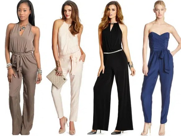 Women looking fabulous in different types of jumpsuits. Image from http://stylishcurves.com/25-plus-size-jumpsuits-perfect-fr-your-body-type/