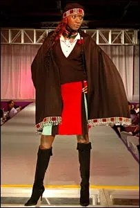 One of the Kenyan national dress designs. Image from http://news.bbc.co.uk/2/hi/africa/6245435.stm