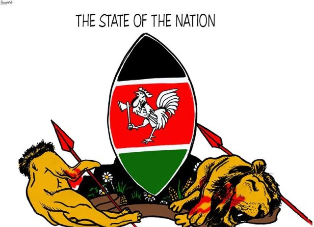 The state of the nation by Patrick Gathara. Image from http://www.wandianjoya.com/blog