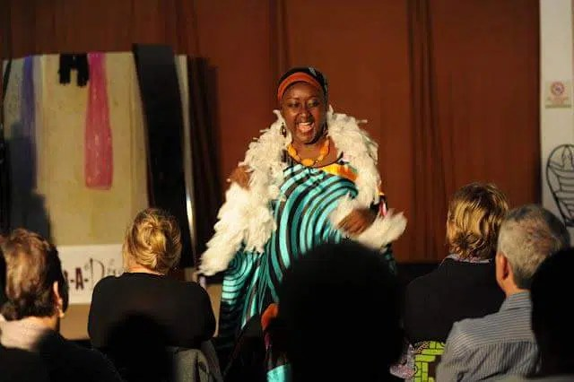 "Maggie Gitu performing at A Diva in ""Rent-A-Diva"" at Michael Joseph Center."