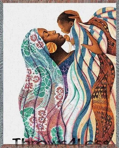 An African woman with her child. Image from pinterest.com
