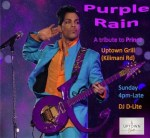 Are you a fan of Prince? Tribute to Prince tomorrow at Uptown Grill