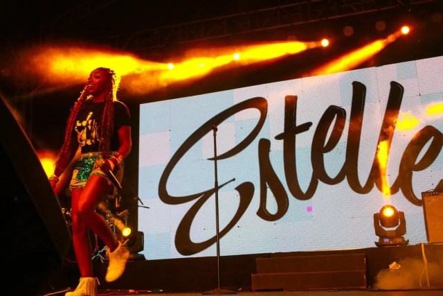 Estelle performing at Blankets And Wine Nairobi. Image from https://twitter.com/blanketsandwine/status/752197663962099712