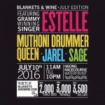 Estelle will be headlining Blankets and Wine this month