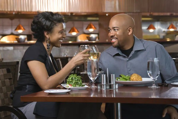 African-American couple dining out. Image from: http://aeshaonline.com/3-questions-to-ask-on-a-first-date/