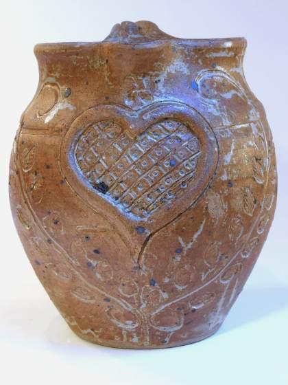 Pichet boule coeur marron
