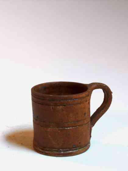 Tasse droite large marron
