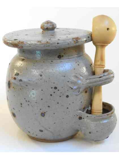 Pot à olives vert
